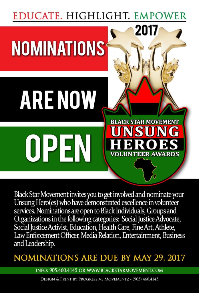 Black Star Unsung Heroes Nomination Flyer