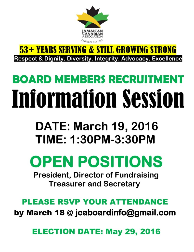 JCA Information Session March 19, 2016