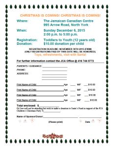 jca xmas party registration