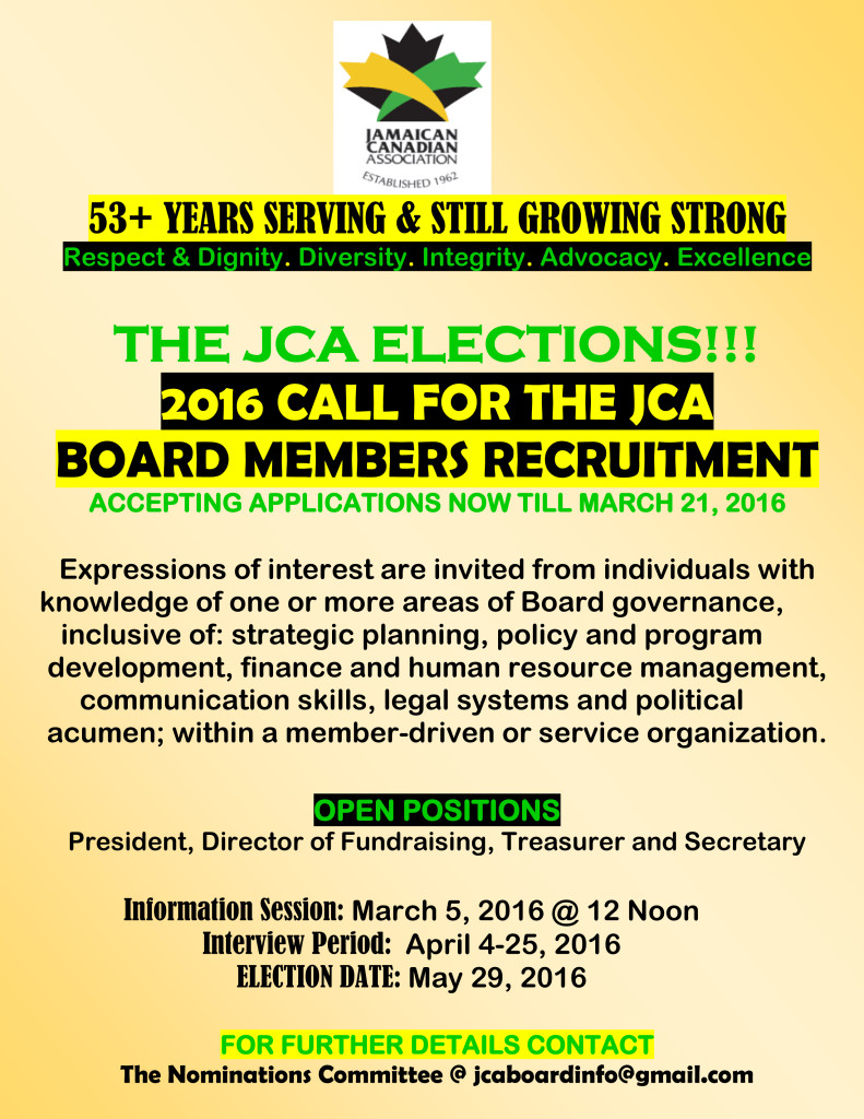 JCA Board Members Recruitment