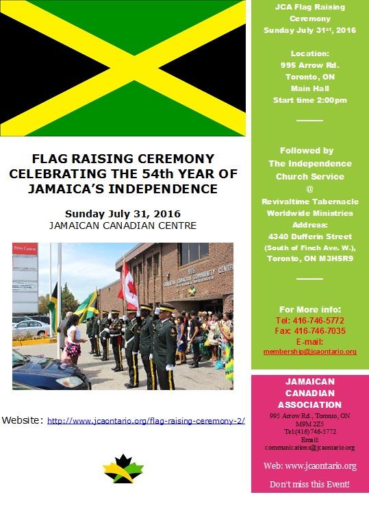 flag raising august 6th