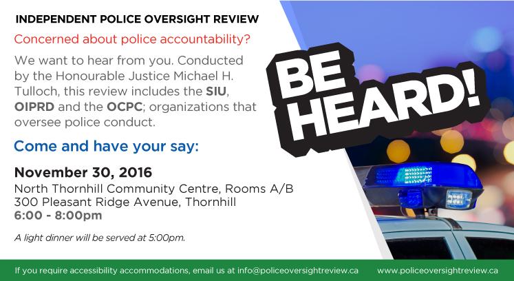 police-oversight-public-consultation-thornhill